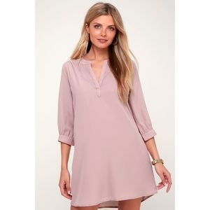 Lulus High Line Mauve Shift Dress Size Small